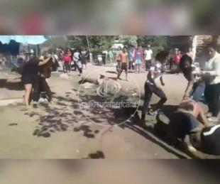foto: Video: violenta pelea entre varias mujeres en el Barrio Quilmes