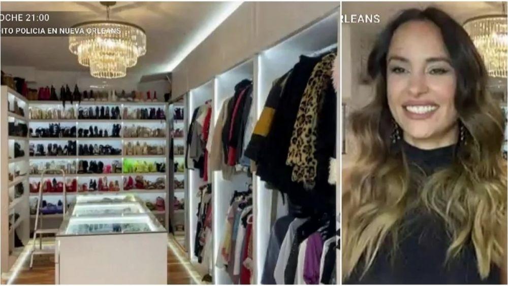 foto: Lourdes Sánchez mostró su imponente vestidor en La jaula de la moda