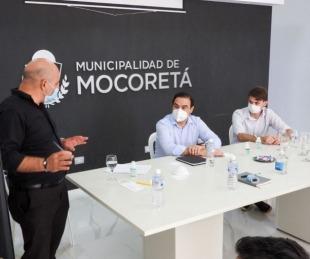 foto: Gustavo Valdés visitó Mocoretá y dijo que