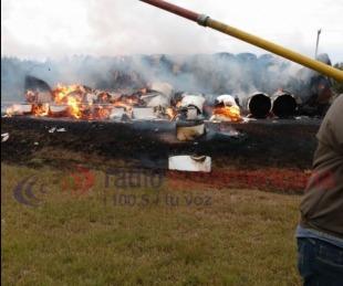foto: Camión se incendió yendo a Santo Tomé: no hay heridos graves