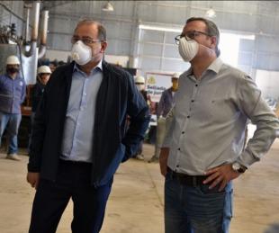 foto: Tassano enseñó a concejales las mejoras realizadas en el Obrador 1