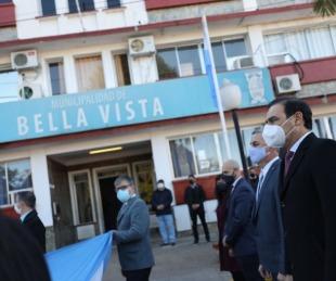 foto: Valdés recorrió obras y celebró el aniversario de Bella Vista
