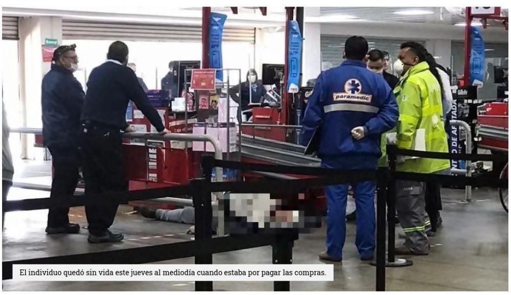 foto: Estaba en la fila del supermercado y murió: investigan si tenía Covid19