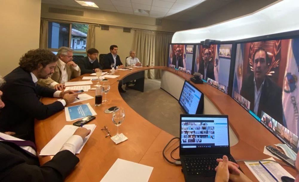 foto: Inició la videoconferencia del Presidente con los gobernadores
