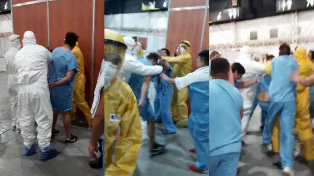 foto: Un paciente con coronavirus robó un celular y casi lo linchan