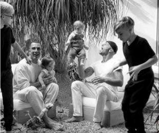 foto: Ricky Martin posteó por primera vez una foto junto a su marido y sus hijos