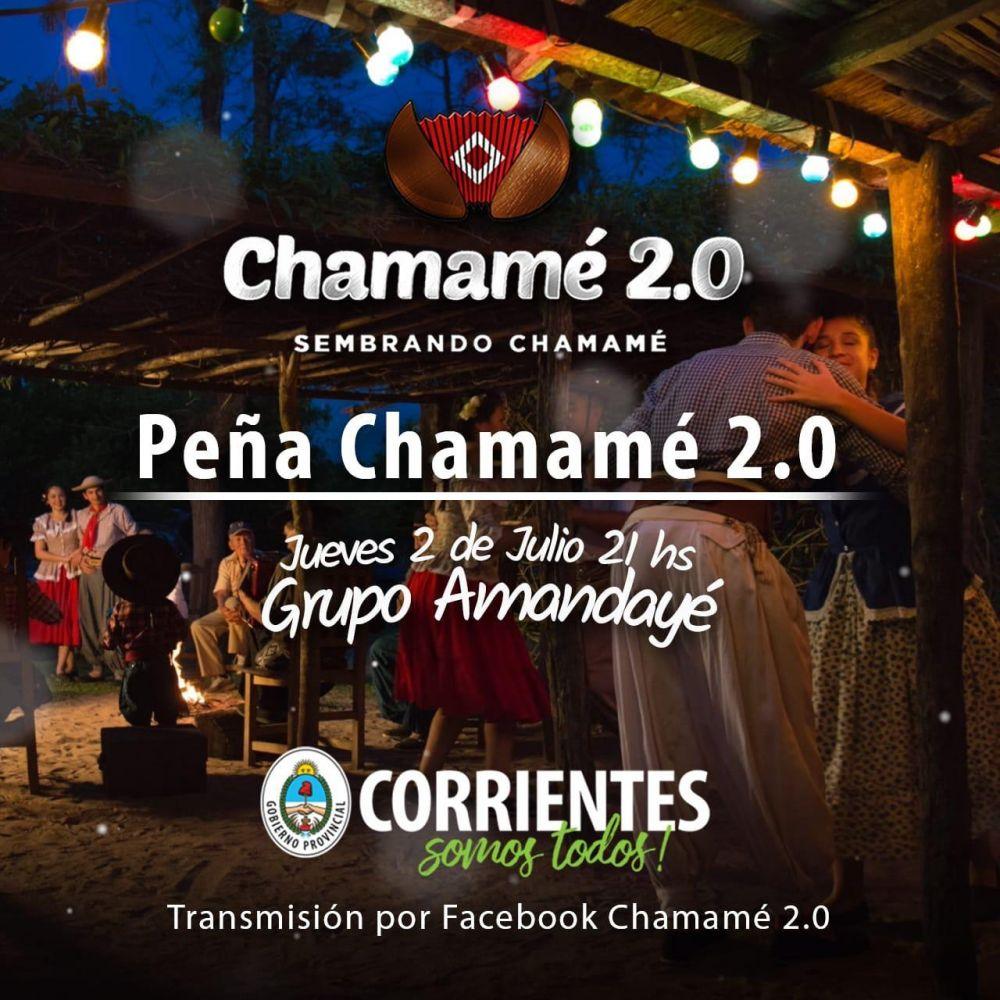 Amandayé, epicentro virtual de la Peña del Chamamé