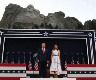 foto: E.E.U.U.: Trump celebró el 4 de julio con fiesta y en pandemia