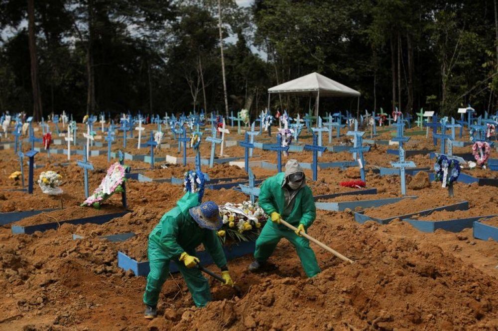 Brasil: registran más de mil muertos en las últimas 24 horas