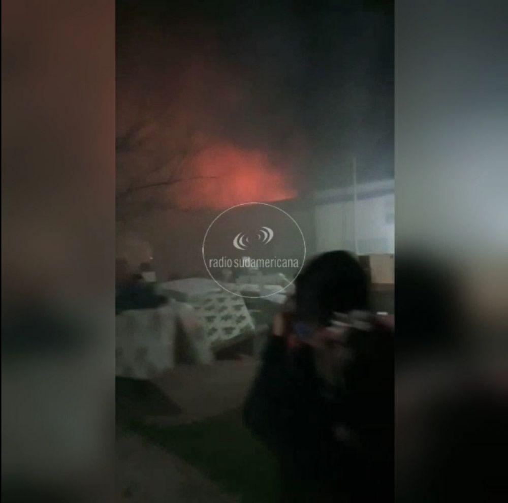 Perugorria: Dotaciones de bomberos combatieron feroz incendio