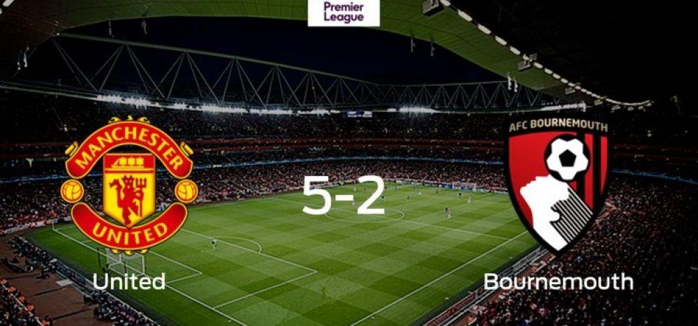 Manchester United goleó y llegó al cuarto puesto de la Premier