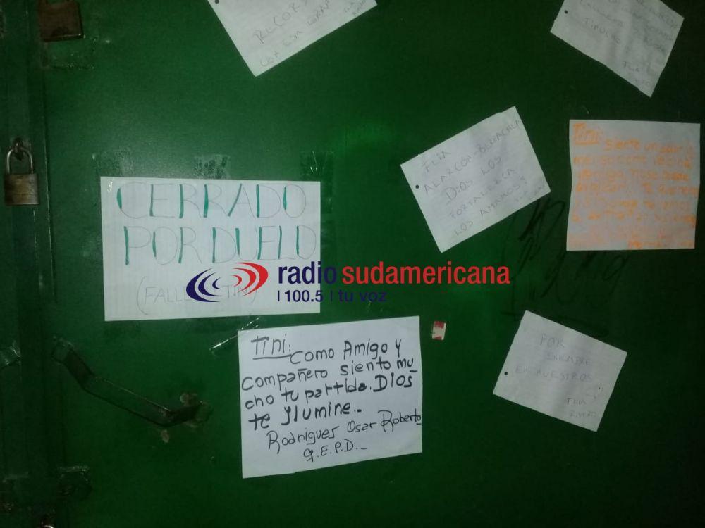 Tras muerte del canillita, vecinos dejaron sentidos mensajes de despedida