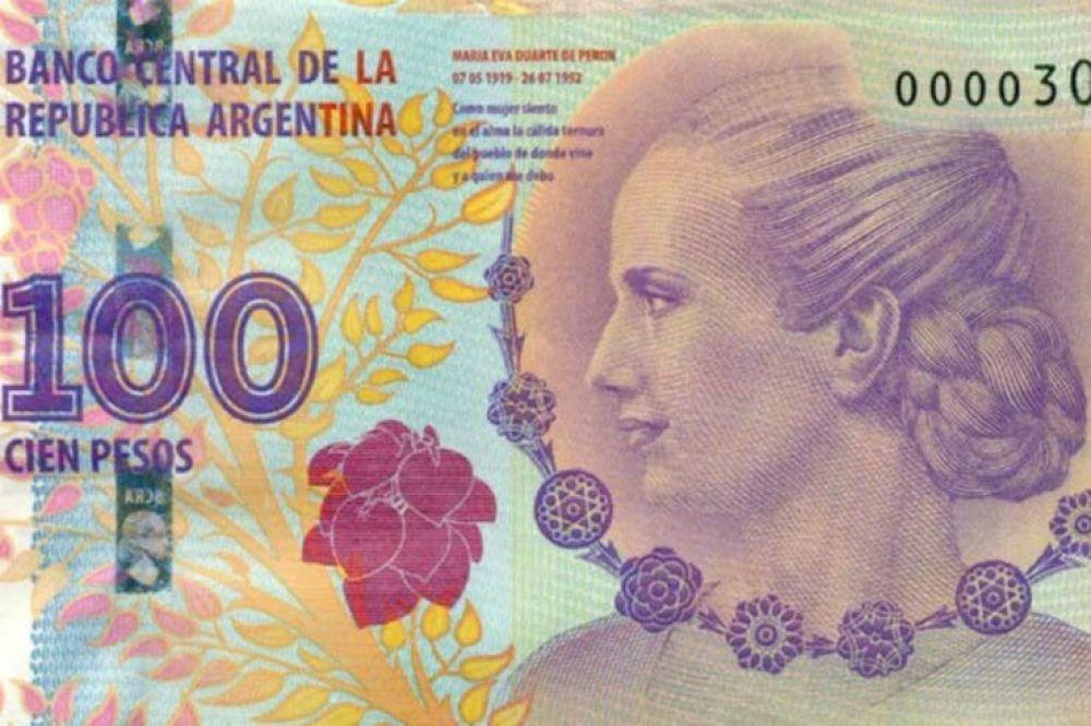 El gobierno lanzó 540 millones de billetes de $100 con la imagen de Evita