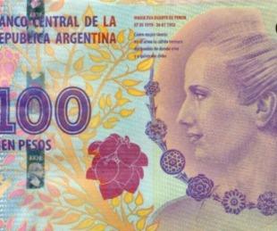 foto: El gobierno lanzó 540 millones de billetes de $100 con la imagen de Evita