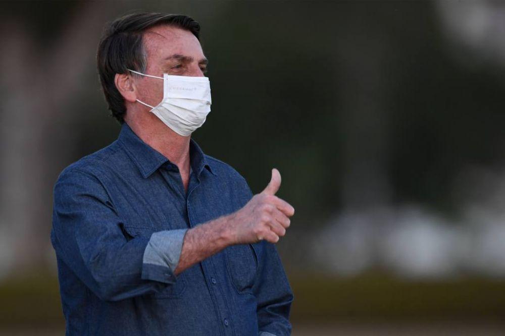 foto: Brasil: Jair Bolsonaro volvió a dar positivo de coronavirus