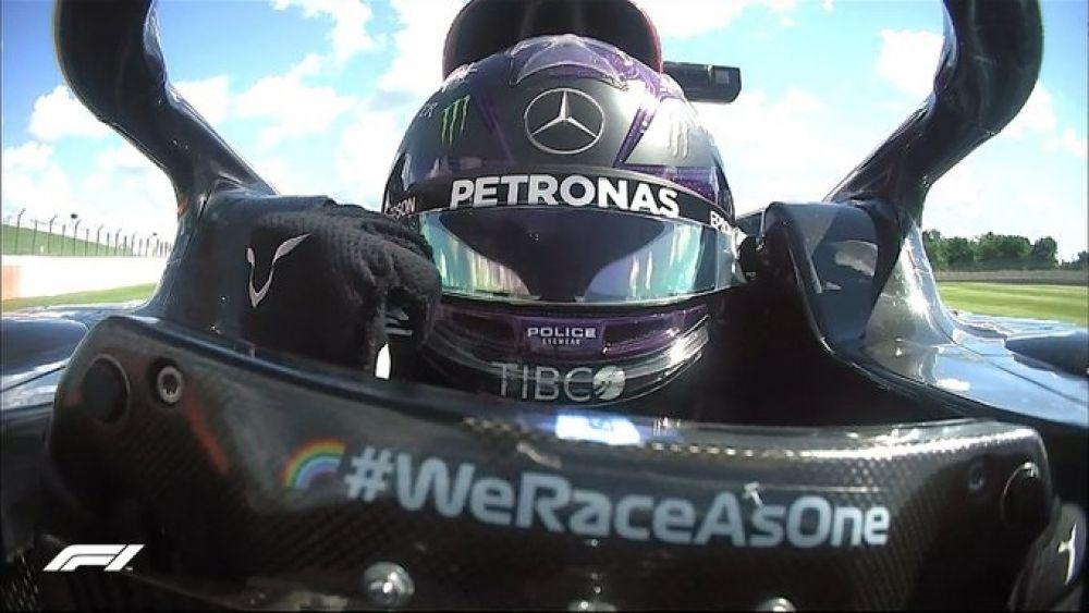 Fórmula 1: Lewis Hamilton hizo la pole en Silverstone