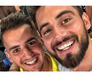 foto: La emotiva despedida de Nico Occhiato a su hermano que se fue a vivir a Italia