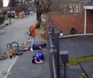 foto: Robaron la bicicleta a un padre y su hijo y dispararon para intimidarlos