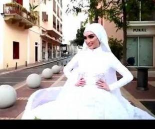 foto: La explosión de Beirut interrumpe la sesión de fotos de una novia
