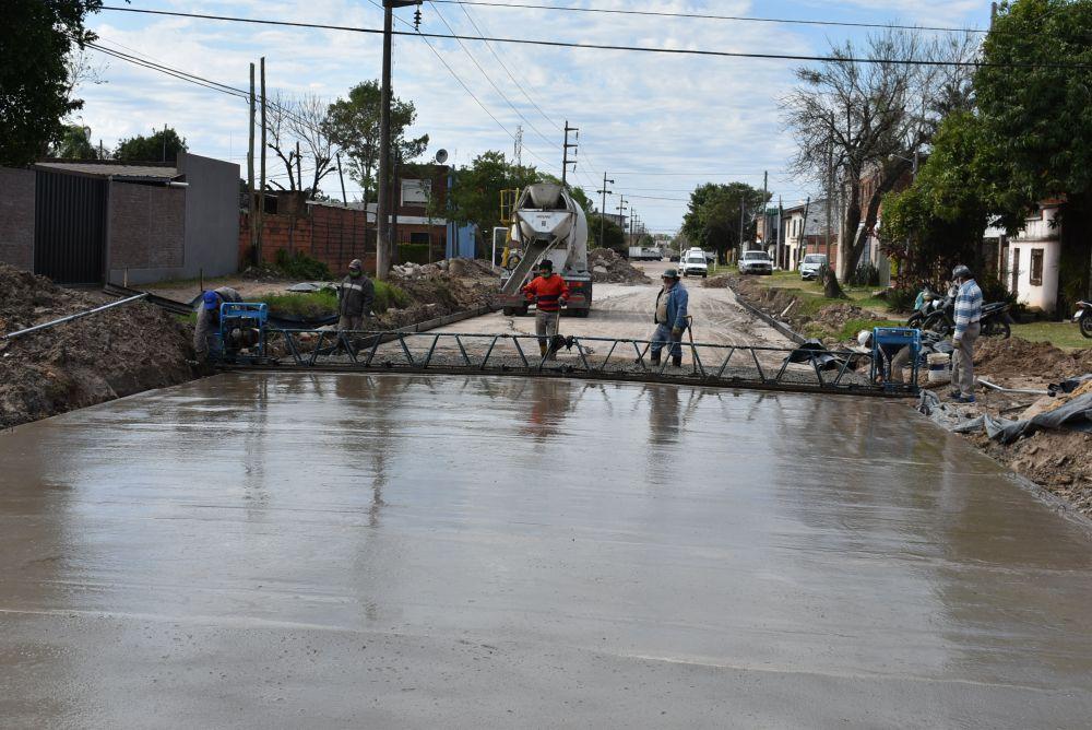 Avanzan las obras de calle Lavalle para convertirla en aliviador vial