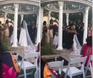 foto: Una mujer interrumpió la boda y dijo que estaba embarazada del novio