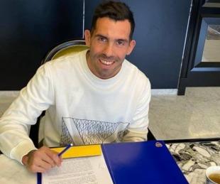foto: Boca Juniors: Carlos Tevez firmó su nuevo contrato con el club
