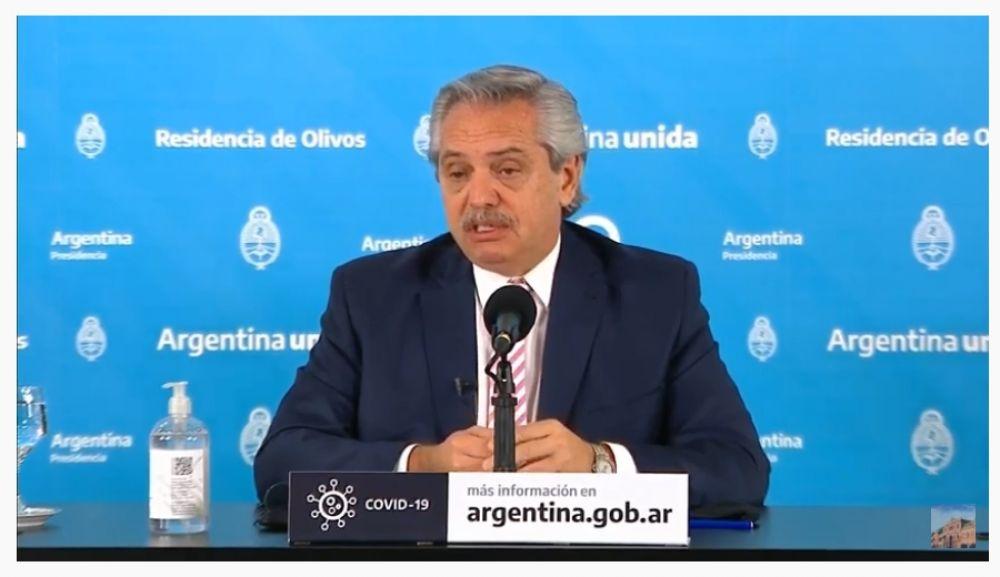 Alberto Fernández anunció la fabricación de la vacuna de Oxford en la Argentina