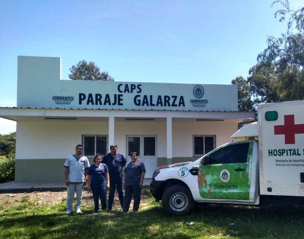 Provincia construyó un Centro de Salud en el paraje Galarza