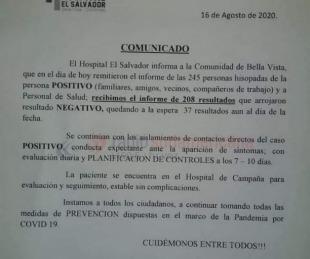 foto: Bella Vista: 208 hisopados dieron negativo y aguardan más resultados