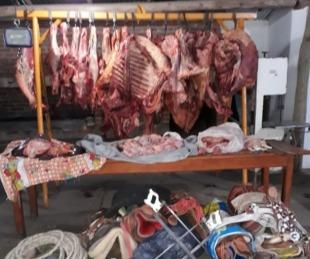 foto: Secuestraron más de 600 kilos de carne en San Luis del Palmar