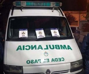 foto: Simulaban ser médicos y repartían droga en una ambulancia
