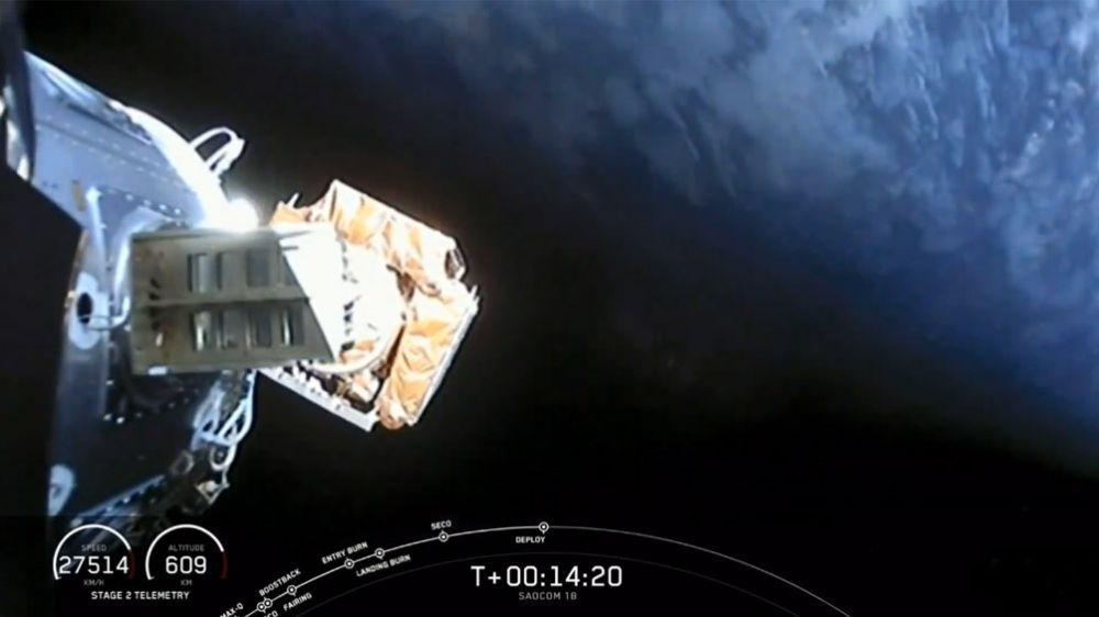 Se lanzó con éxito el Saocom 1B desde una base estadounidense