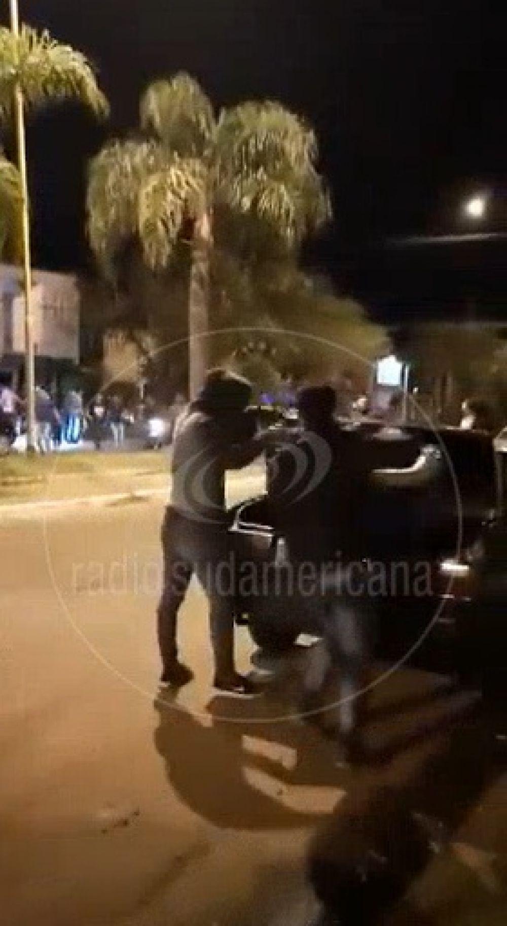Video: así escapaban de una fiesta clandestina en Santo Tomé