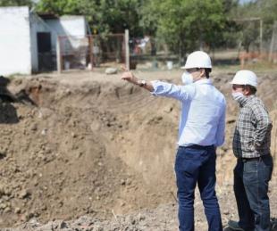 foto: Valdés recorrió obras de ampliación y  desagües por Av. Alta Gracia