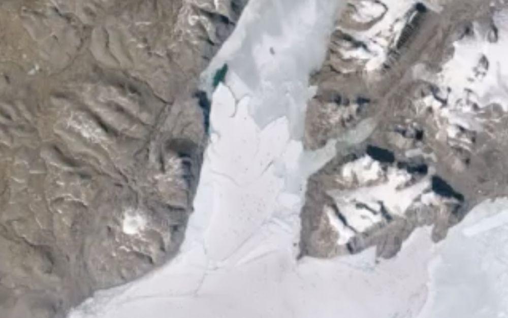 Así se rompió la plataforma de hielo más grande del Ártico