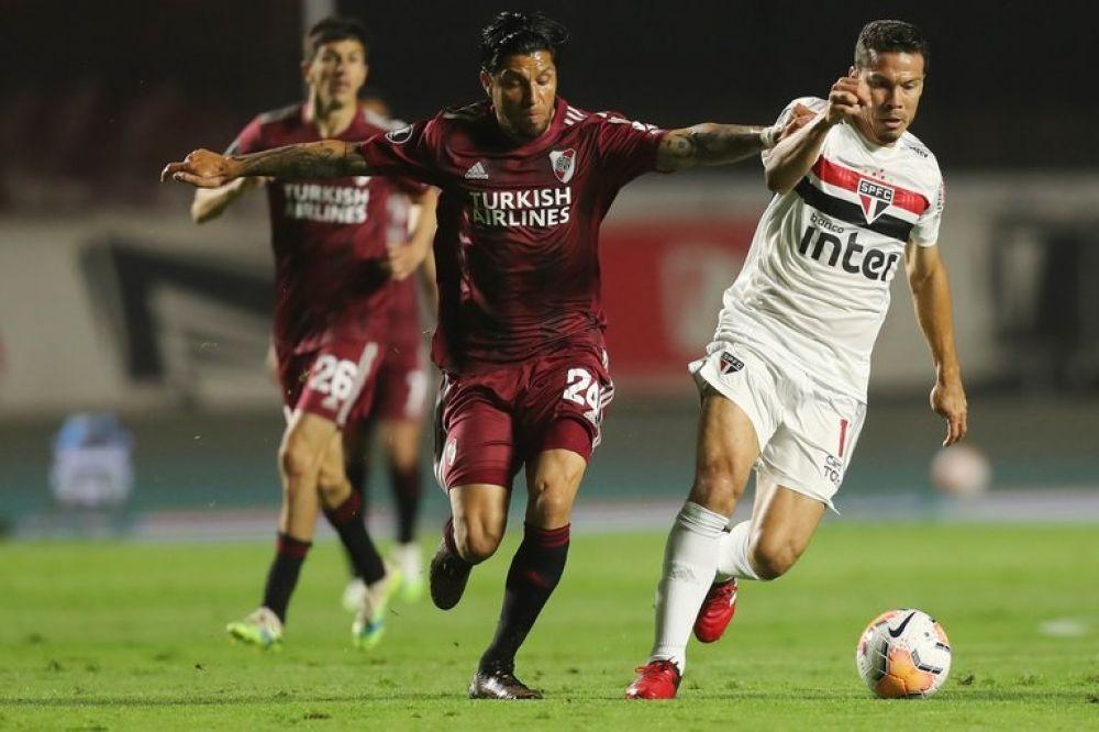 River jugó un gran partido en Brasil e igualó 2-2 ante San Pablo