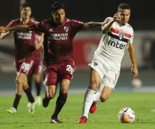 foto: River jugó un gran partido en Brasil e igualó 2-2 ante San Pablo