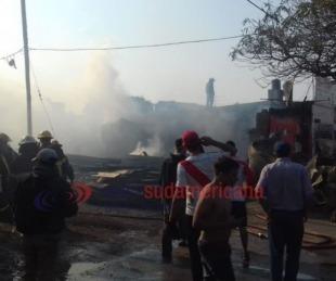 foto: Incendio en una maderera: el dueño sospecha que pudo ser intencional