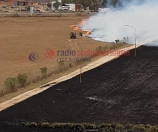 foto: Así quedó la zona donde se produjo el incendio cerca del Aeropuerto