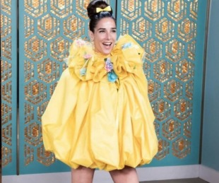 foto: El divertido look primaveral de Juana Viale: