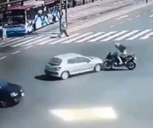 foto: El video del impactante accidente de Nacho Viale en moto