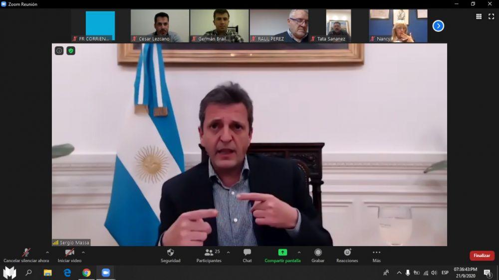 Intendentes y funcionarios correntinos se reunieron por zoom con Massa