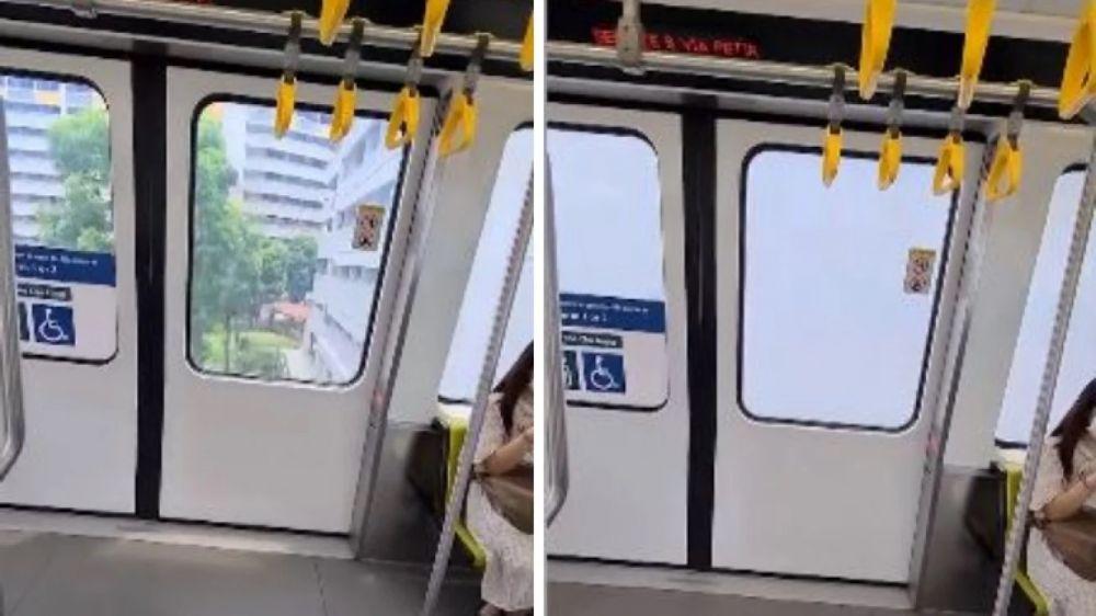En Singapur, las ventanas de los trenes se vuelven opacas automáticamente al pasar por una zona residencial