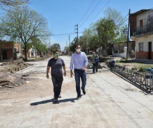 foto: Valdés recorrió obras sobre calle Lavalle que tendrá impacto vial