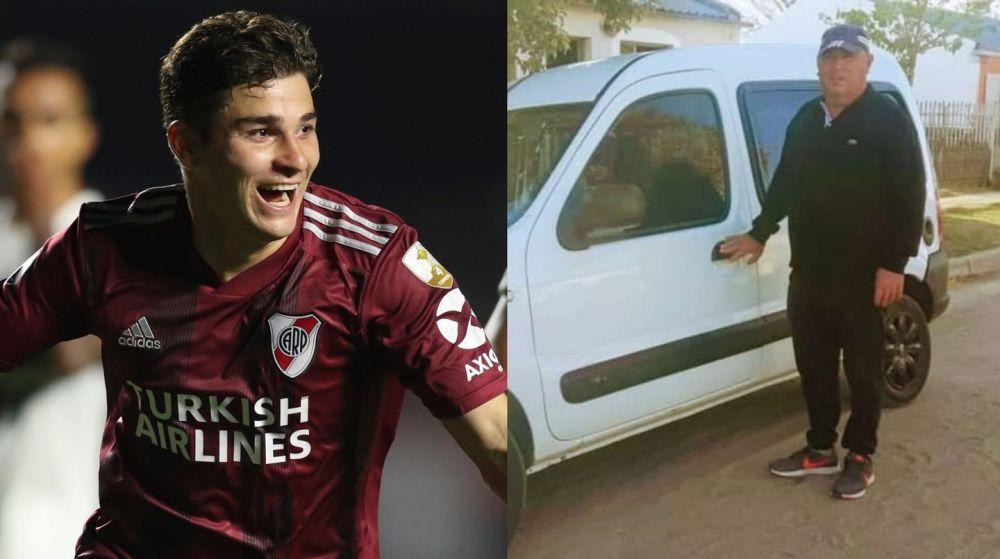 Julián Álvarez le regaló una camioneta a su técnico de la infancia