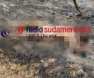 foto: Sofocaban un feroz incendio y encontraron el cuerpo de una mujer