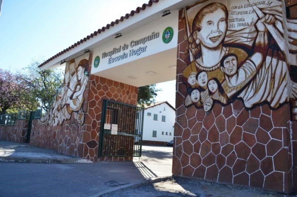 Hay 59 pacientes internados en el Hospital de Campaña Escuela Hogar