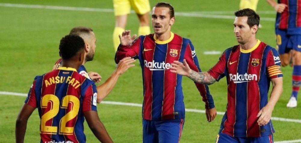Con gol de Messi, Barcelona aplastó 4-0 al Villarreal