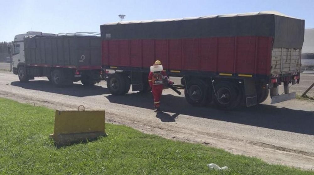 Coronavirus: Camionero está preso por bajar a controlar su carga