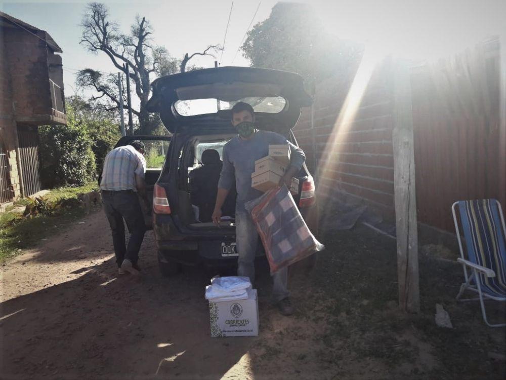 Desarrollo Social asistió en forma inmediata a dos familias